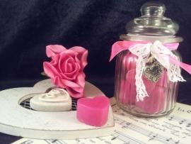 Roze - Blauw hartjes