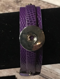 Coin armband Paars