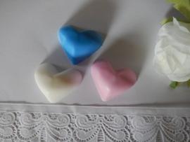 3 stuks  bolle hartjes