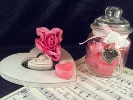 Perzik Roze hartjes