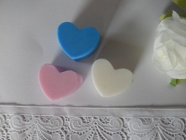 3 stuks platte hartjes