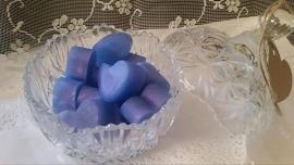 Blauw Paarse hartjes