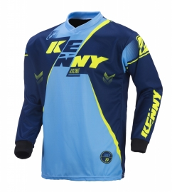 Kenny Track Jersey Navy Cyan Yellow 2017
