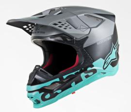 Alpinestars Supertech S-M8 Radium Helmet Black Matte Gray Teal
