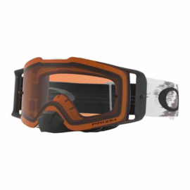 Oakley Frontline Matte White Speed Prizm Mx Bronze Lens