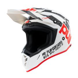Pull-in Helmet Trash White Black Red 2021