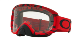 Oakley O2 Mx Intimidator Blood Red w/ Clear Lens