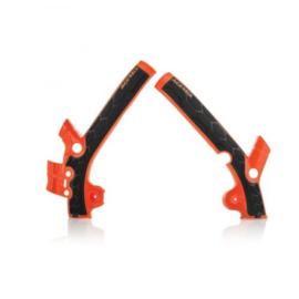 Acerbis X-Grip Framebeschermer SX85 13-17 TC85 14-17 Oranje Zwart