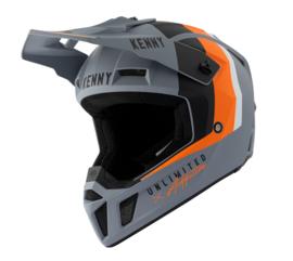 Kenny Performance Helm Matt Grey Orange 2021