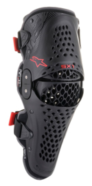 Alpinestars SX-1 V2 Adult Knee Protector Black Red