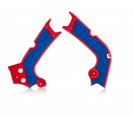 Acerbis X-Grip Framebeschermer CRF250 18-19 CRF450R 17-18 Rood Blauw