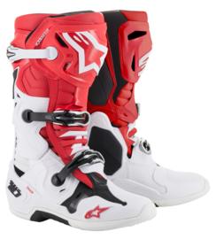 Alpinestars Tech 10 Boots Red White Black