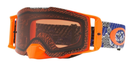 Oakley Frontline Dazzle Dyno Blue Orange Prizm Mx Bronze Lens