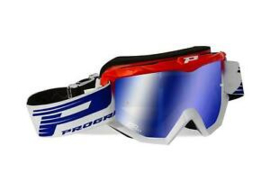 Progrip 3201 Goggle Red White w/Mirror Lens