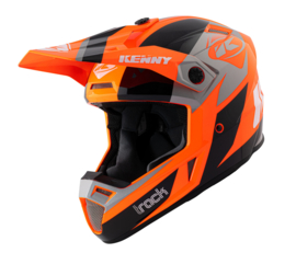 Kenny Track Graphic Helm Orange 2021