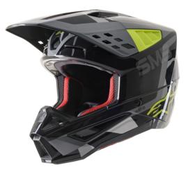 Alpinestars S-M5 Rover Helmet Antreciet Fluo Yellow Grey Camo