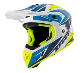 Kenny Titanium Helm Blue White Neon Yellow 2021