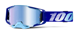 100% Armega Goggle Royal W/Mirror Blue Lens