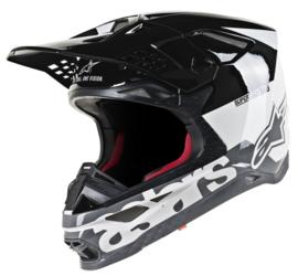 Alpinestars Supertech S-M8 Radium Helmet WhiteBlack, Gray Glossy