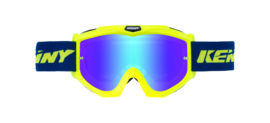 Kenny Track Goggle Fluor Yellow With Blue Mirror Lens