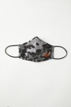 Fox Face Mask Black Camo Adult