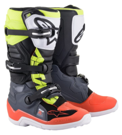 Alpinestars Tech 7S Boots Dark Grey Red Fluo Yellow
