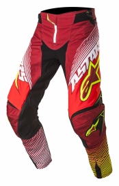 Alpinestars Techstar Factory Pant Red White Fluo Yellow