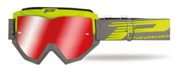Progrip 3201 Goggle Fluo Yellow Grey w/Mirror Lens