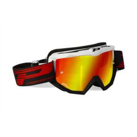 Progrip 3201 Goggle White Black w/Mirror Lens