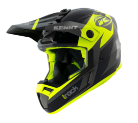 Kenny Track Graphic Helm Black Neon Yellow 2021