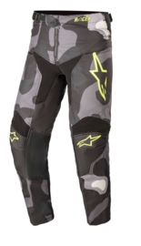 Alpinestars Racer Tactical Youth Pant Grey Camo Yellow Fluo 2021