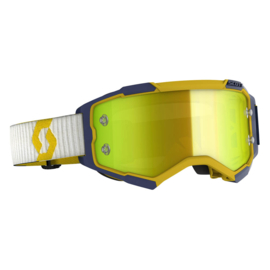 Scott Fury Yellow/Blue W/ Yellow Chrome