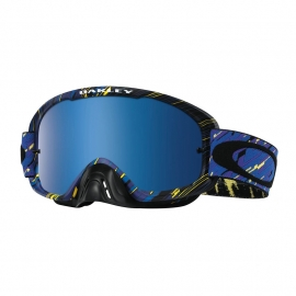 Oakley O2 Mx Rain Of Terror Blue Purple w/Black ice Iridium & Clear Lens