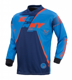 Kenny Track Jersey Youth Navy Cycan Orange