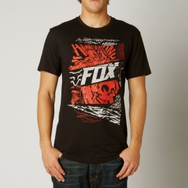 Fox Dark Rider Regular Fit Black T-shirt