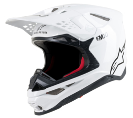 Alpinestars Supertech S-M10 Solid Helmet White