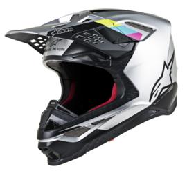 Alpinestars Supertech S-M8 Contact Helmet Silver Black