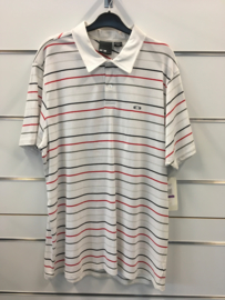 Oakley Thin Stripe White Polo