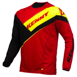 Kenny Titanium Jersey Red Black Fluo Yellow 2016