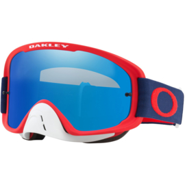 Oakley O2 Red Navy w/Ice iridium & Clear Lens