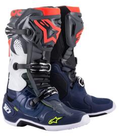Alpinestars Tech 10 Boots Dark Grey Dark Blue Red