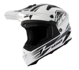 Kenny Titanium Helm White Black 2021