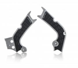Acerbis X-Grip Framebeschermer CRF250 18-19 CRF450R 17-18 Zilver Zwart