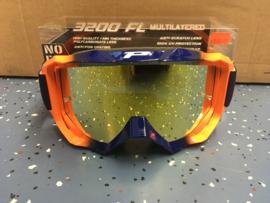 Progrip 3200Goggle Blue Orange Mirror Yellow Lens