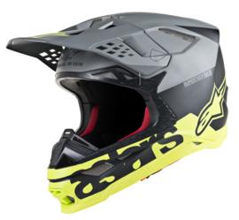 Alpinestars Supertech S-M8 Radium Helmet Black Matte, Gray, Fluo Yellow