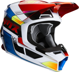 Fox V1 Yorr Helmet Blue Red 2020 Youth