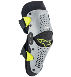 Alpinestars SX-1 Youth Knee Guards Siver Yellow
