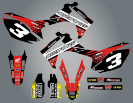 Stickerset Honda divers