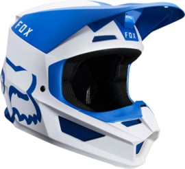 Fox V1 Mata Helmet Blue White 2019