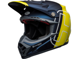 Bell Moto-9 Flex Husqvarna Gotland Matte/Gloss Blue/Hi-Viz